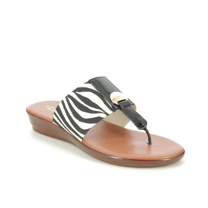 Lotus Toe Post Sandals - Zebra - ULP071/55 ARNA