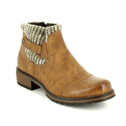 Lotus Fashion Ankle Boots - Tan - 40425/10 AYLA