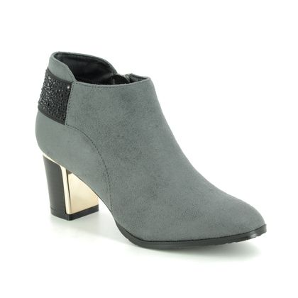 Lotus Fashion Ankle Boots - Grey - ULS128/00 BETH