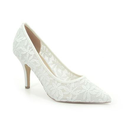 Lotus Heeled Shoes - White - ULS163/66 BRIONY