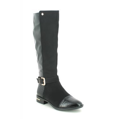 Lotus Knee High Boots - Black patent suede - ULB145/40 CELESTE PONTAL
