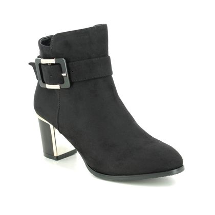 Lotus Heeled Boots - Black - ULB148/30 CHARLOTTE