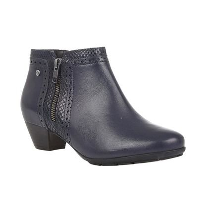 Lotus Boots - Ankle - Navy Leather - ULB176/70 DANCER