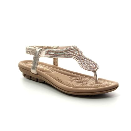 Lotus Flat Sandals - Gold - ULP011/26 DELIA