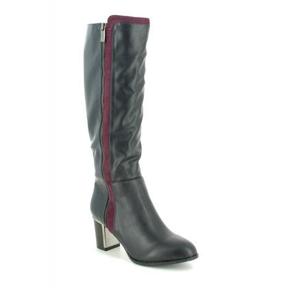 Lotus Knee High Boots - Navy - ULB150/70 GABRIELLE AUTO