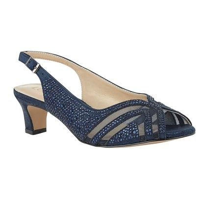 Lotus Heeled Sandals - Navy - ULS178/70 GLINDA