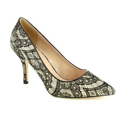 Lotus Heeled Shoes - Black - 50848/35 HEATH
