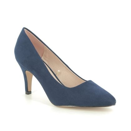 Lotus Heeled Shoes - Navy - ULS055/70 HOLLY
