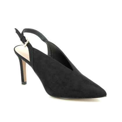 Lotus Slingback Shoes - Black - ULS116/30 ISOBEL