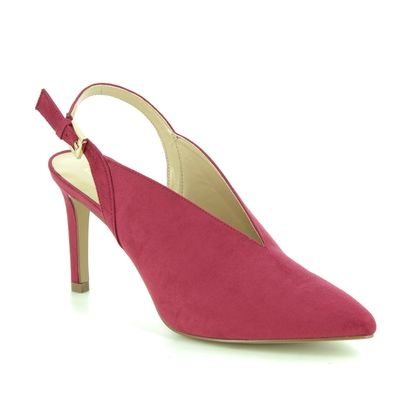 Lotus Slingback Shoes - Red - ULS116/80 ISOBEL