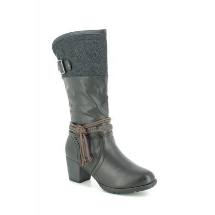 Lotus Knee High Boots - Black - ULB115/30 JAMILA