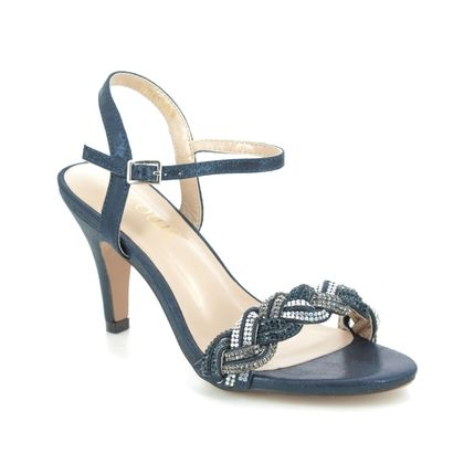 Lotus Heeled Sandals - Navy - ULS172/70 JASMINE