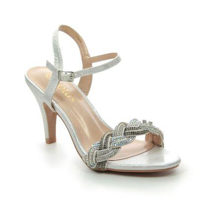Lotus Heeled Sandals - Silver - ULS172/01 JASMINE