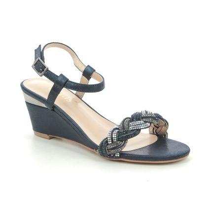 Lotus Heeled Sandals - Navy - ULS173/70 JOSEPHINE