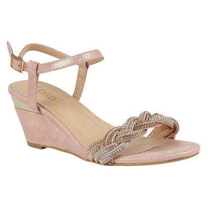 Lotus Heeled Sandals - Pink - ULS173/60 JOSEPHINE