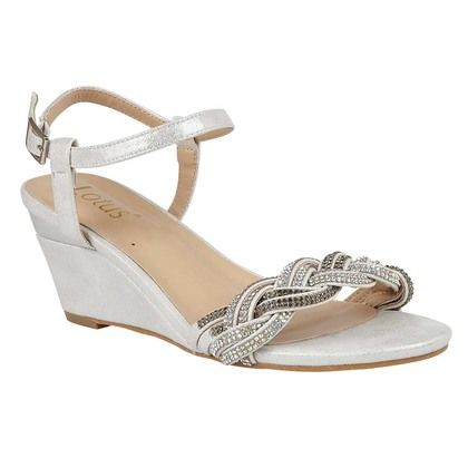 Lotus Heeled Sandals - Silver - ULS173/01 JOSEPHINE