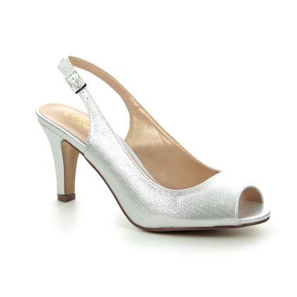 Lotus Slingback Shoes - Silver - ULS076/01 LARISSA