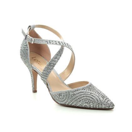 Lotus Heeled Shoes - Silver - ULS122/01 LATOYA
