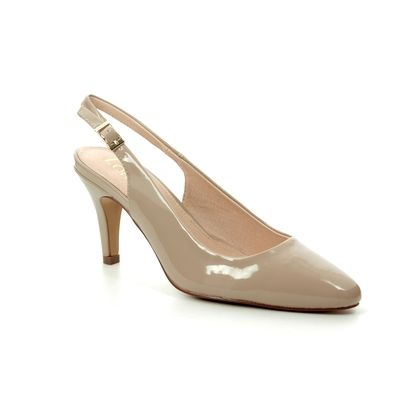 Lotus Slingback Shoes - Nude Patent - ULS056/56 LIZZIE