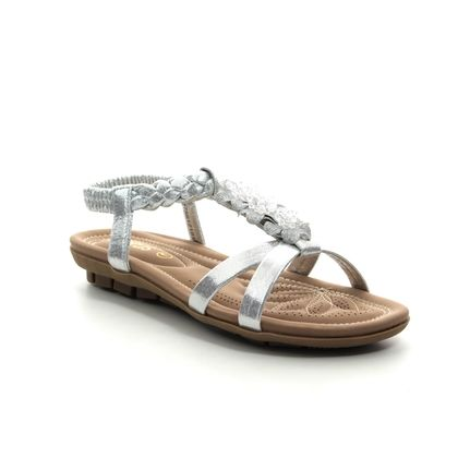 Lotus Flat Sandals - Silver - ULP013/01 MARGARITA