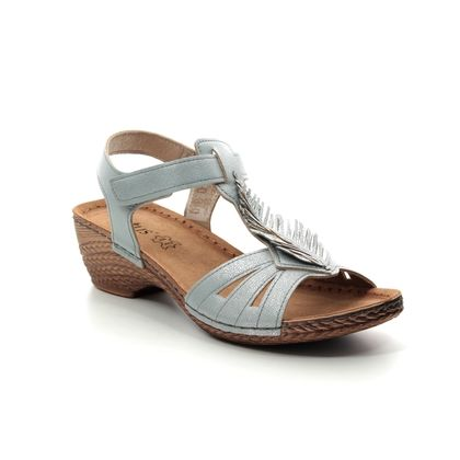Lotus Wedge Sandals - Pale blue - ULP055/71 MELINDA