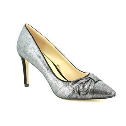 Lotus Heeled Shoes - Pewter - ULS012/51 MINANGO