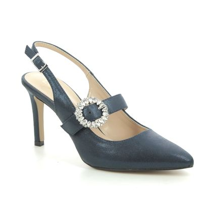 Lotus Slingback Shoes - Navy - ULS177/70 MISHKA