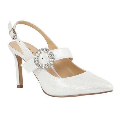 Lotus Slingback Shoes - Off White - ULS177/67 MISHKA