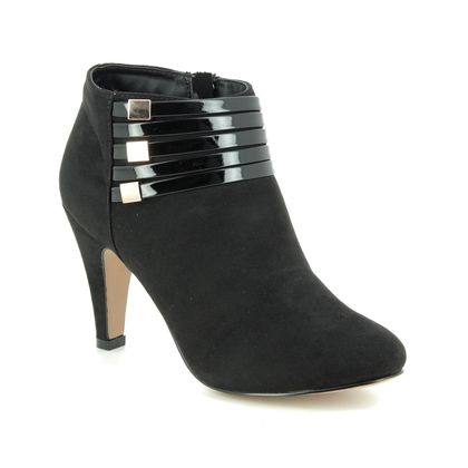 Lotus Ankle Boots - Black - ULS099/30 NELL
