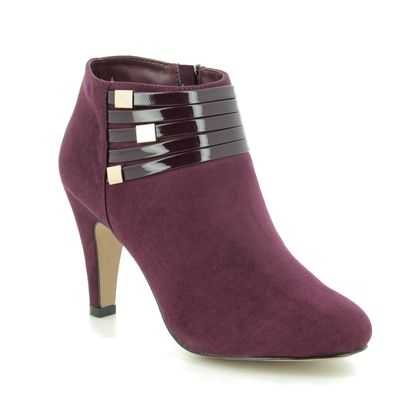 Lotus Boots - Ankle - Burgundy - ULS099/81 NELL