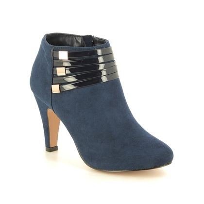Lotus Ankle Boots - Navy - ULS099/70 NELL
