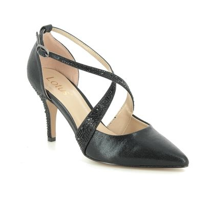 Lotus Heeled Shoes - Black - ULS121/30 ORLA