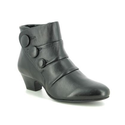 Lotus Boots - Ankle - Black leather - ULB081/30 PRANCER