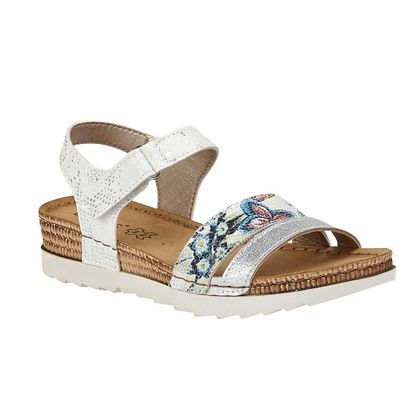 Lotus Comfortable Sandals - White - ULP104/66 PRATO