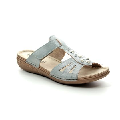 Lotus Slide Sandals - Pale blue - ULP054/72 RACHELLE