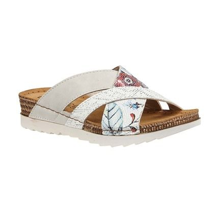 Lotus Slide Sandals - White - ULP105/66 RAVENNA