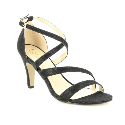 Lotus Heeled Sandals - Black - ULS003/30 RIMES
