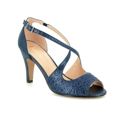 Lotus Heeled Sandals - Navy - ULS081/70 ROSA