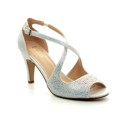 Lotus Heeled Sandals - Off White - ULS081/67 ROSA
