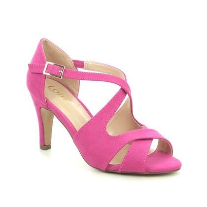Lotus Heeled Sandals - Fuchsia - ULS157/62 SADIE