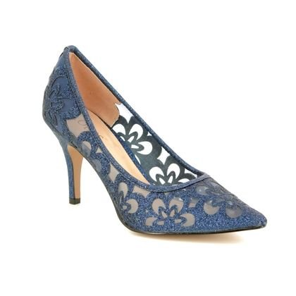 Lotus Heeled Shoes - Navy - ULS080/70 SPARKLE