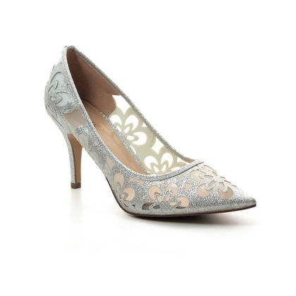 Lotus Heeled Shoes - Silver - ULS080/01 SPARKLE