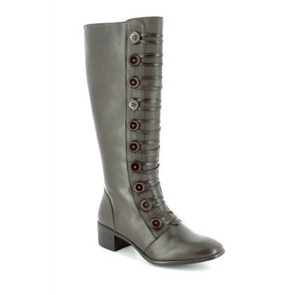 Lotus Knee High Boots - Brown leather - ULS014/20 SPINDLE