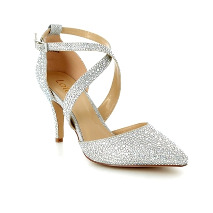 Lotus Heeled Shoes - Silver Glitz - 50911/01 STAR
