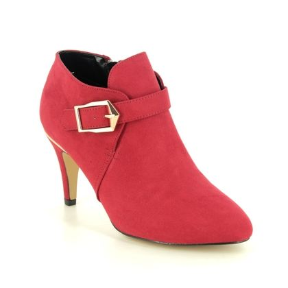 Lotus Heeled Boots - Red - ULS214/80 SUMMER