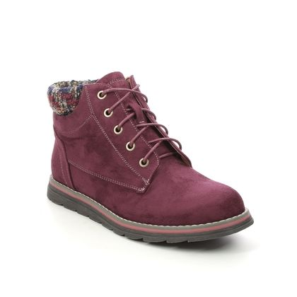 Lotus Lace Up Boots - Bordeaux - ULB093/82 SYCAMORE