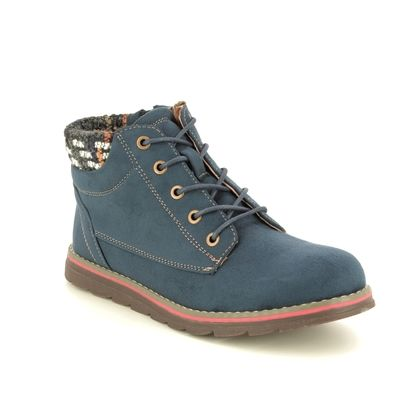 Lotus Ankle Boots - Navy - ULB093/70 SYCAMORE