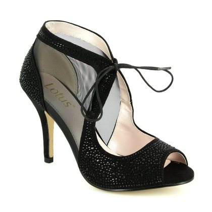 Lotus Heeled Shoes - Black patent suede - 50719/40 VANILLE