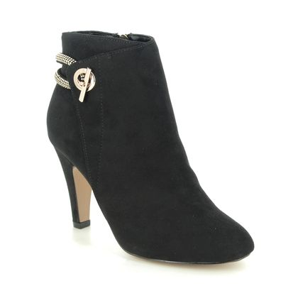 Lotus Heeled Boots - Black - ULB139/30 WHITNEY
