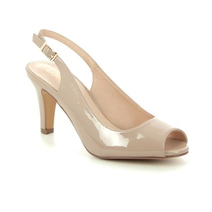 Lotus Slingback Shoes - Nude Patent - ULS059/56 ZARIA